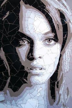 Retrato en mosaico