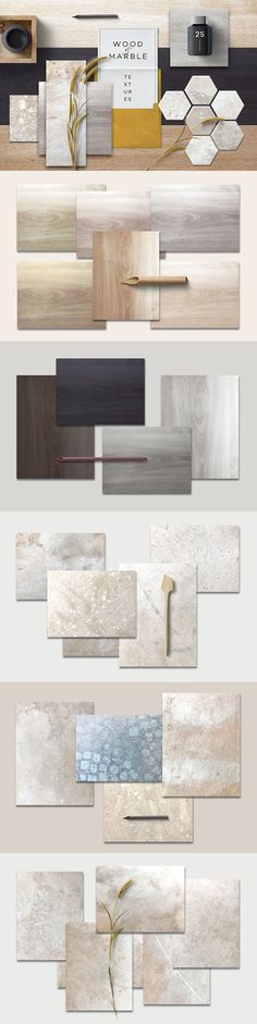 Wood & Marble textures - This lovely natural collection contains 15 marble textures and 10 wooden textures. Please check out the screenshots for full preview of the product. By Polar Vectors $15 #affiliatelink