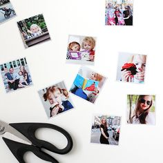 Getting Instagram magnets printed is a great (but potentially pricey) way to display your photos. Try this easy, inexpensive, and fun version at home!