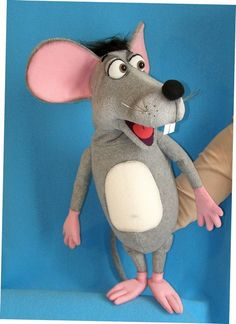 Comic Mouse puppet, puppet for sale Puppets For Sale, Set Design Theatre, Puppet Making, Dinosaur Stuffed Animal, Mice, Animals, Babies, Art, Puppets