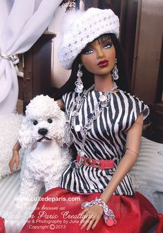 OOAK doll with her dog