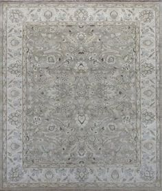 Amazon.com: 8' X 10', Neutral, Ivory, Floral Design, Hand Knotted Handmade Chobi Peshawar Wool Area Rug Oriental Persian - H555: Furniture & Decor