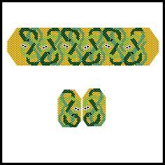 Celtic Snakes Bracelet & Earrings | Bead-Patterns