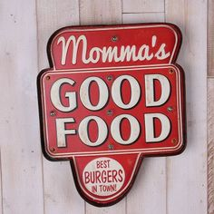 Now everyone will know that Momma makes the best burgers in town! Bring the retro american diner look into your kitchen with this metal LED wall hung light.