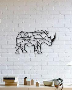 Gergedan Metal Plaka -  Rhino