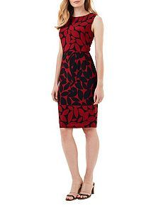 Leora Leaf Print Dress