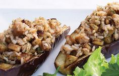 How to make Eggplant stuffed with tomato rice recipe - Aubergines farcies au riz tomate recette SERVES 4 Ingredients: 4 small egg. Healthy Family Meals, Healthy Food Options, Healthy Snacks, Healthy Recipes, Vegetarian Recipes Dinner, Dinner Recipes, Tomato Rice, Breakfast Dessert, Holiday Desserts