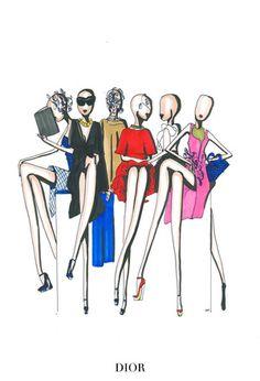 ILLUSTRATIONS   The Top Eleven Looks of Paris Fashion Week - NOWFASHION