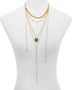 Jules Smith Curb & Chain Trillion Disc Necklace, 16"
