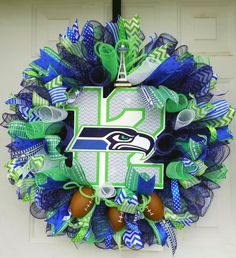 Seattle Sports Wreaths Seattle Football Wreaths Sports Decor