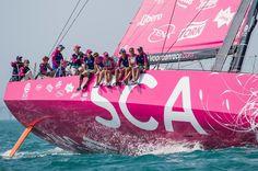 February 07, 2015. Team Vestas Wind In-Port Race: Team SCA - Victor Fraile / Volvo Ocean Race