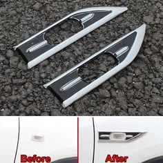 BBQ@FUKA Fit For Honda 2015 Vezel HRV HR-V 2x Car Fender Side Vent Molding Sequins Cover Trim Styling sticker