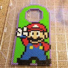 Mario door hanger perler beads by happypurplecloud