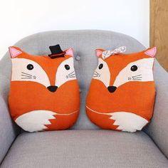 fox-shaped cushions