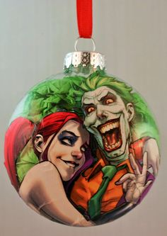 Harley Quinn and Joker Christmas Ornament by GothamCityCharms