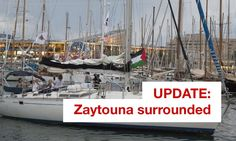 The Israeli Navy has intercepted the Women's Boat to Gaza bout 35 nautical miles from the coast of the besieged Strip...