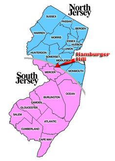 Where does North New Jersey become South New Jersey?  I def don't think North Herz comes this far down lol