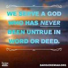 God is Faithful!