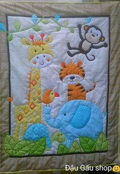 Baby Quilts To Make, Baby Boy Quilts, Baby Applique, Applique Quilts, Cot Quilt, Baby Cribs, Quilt Making, Quilt Blocks, Smocking