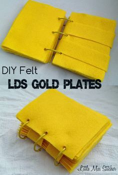 Felt Golden Plates DIY Tutorial. So simple to make, inexpensive and perfect for FHE lessons!