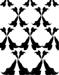 Cuervo 3. Simetria de reflexión especular, crecimiento o dilatación.