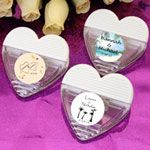 Personalized Heart Shaped Magnetic Memo Beach Clip Favors