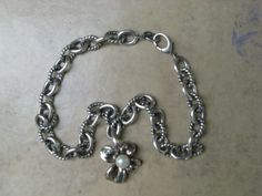 Ann King Silver Pearl Flower Pendant and Silver Necklace  #AnnKing #Chain