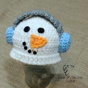 Preemie Earmuff Snowman Hat, 4 Sizes
