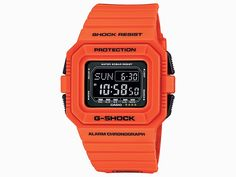 "#Casio #GShock #watch ""Rescue Orange"" #October 2014 #release including G-Shock DW-D5500MR-4 #rescueorange #watch"