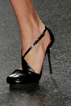 Alexandre Herchcovitch Black Patent Classy Sexy Stiletto Sandal 2014 #Shoes #Heels - pretiffy