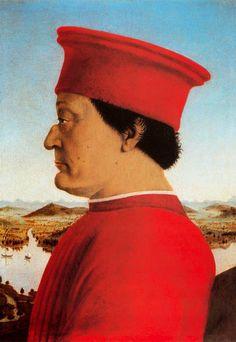 PIERO DELLA FRANCESCA Federico de Montefeltro (1466) Galería de los Uffizi, Florencia.