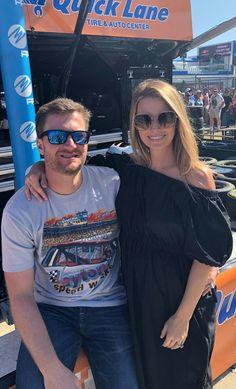 2018 Daytona 500 Grand Marshall, Dale Earnhardt Jr. and wife, Amy