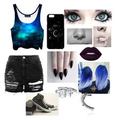 """Band Practice"" by alibugsimpson on Polyvore featuring Topshop, GET LOST, Converse, Bling Jewelry and Annelise Michelson"