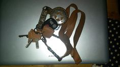handmade leather lanyard and leather key cover