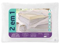 Travesseiro Premium 2 em 1 - Santista com as melhores condições você encontra no Magazine Siarra. Confira!