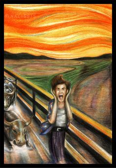 For the Famous Painting Competition held by *ThePencilClub and it recieved place! I have chosen Edvard Munch's The Scream as the famous painting to use as reference. The Scream is definitely a . Edvard Munch, Scream Parody, Ace Ventura Pet Detective, Le Cri, Popular Paintings, Expressionist Artists, Painting Competition, Famous Artwork, Painted Books