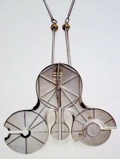 """Gio Pomodoro """"A Silver Necklace"""" Executed by GEM, Milan 1967"""