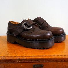Dr Martens Shoes Vintage Docs Brown Leather by RenegadeRevival