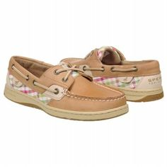 Women's Sperry Top-Sider Bluefish 2-Eye Linen/Coral Plaid