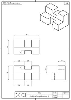 The Process of Metalworking Isometric Drawing Exercises, Autocad Isometric Drawing, Orthographic Projection, Orthographic Drawing, 3d Drawings, Drawing Sketches, Sketching, Civil Drawing, Graphic Design Lessons