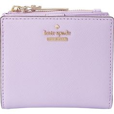 Kate Spade New York Cameron Street Adalyn Small Wallet ($88) ❤ liked on Polyvore featuring bags, wallets, purple, snap bag, purple bags, snap wallet, zipper bag and zipper wallet