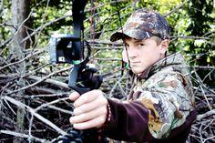 senior boy shoot with hunting