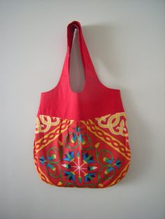 Padded tote bag with Khayameya Print  mother day by kitchentable46, $25.00