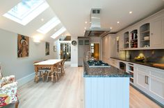 How the Concept of Iceberg Housing has Exploded in Recent Times - Love Chic Living Specialists in Side Return Extensions, Loft Conversions and Basements across London Victorian Kitchen, Victorian Terrace, Victorian Homes, Cellar Conversion, Kitchen Conversion, Loft Conversions, Red Kitchen, Kitchen Living, Kitchen Ideas