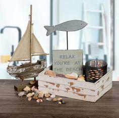Schiff Ahoi! Maritime Deko geht einfach immer. Sie verschönert jeden Raum und sorgt für ein wenig Urlaubsstimmung.