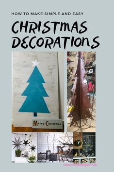 Simple and easy Christmas Decorations you dan make yourself. Decorate your home with these Christmas Decorations. – Colorful Designer Christmas Room, Diy Christmas Gifts, Simple Christmas, Decorating Blogs, Porch Decorating, Decorating Your Home, Beautiful Christmas Decorations, Easy Home Decor, Room Decorations