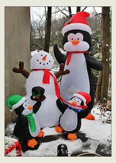 Cute penguin inflatables.