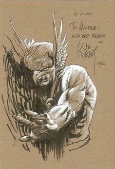 Hawkman by the late Joe Kubert Comic Book Pages, Comic Book Artists, Comic Artist, Comic Books Art, Joe Kubert, War Comics, Hawkgirl, Black White Art, Classic Comics