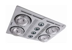 A high extraction 3 in 1 bathroom heater and exhaust fan the Martec Profile Plus LED incorporates a sleek modern design with the latest lighting technology. Featuring instant heat and 2680 lumens from the advanced energy efficient LED lamp fittings (MBGU306, Warm white).