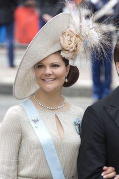 Crown Princess Victoria, April 30, 2013 in Philip Treacy | The Royal Hats Blog
